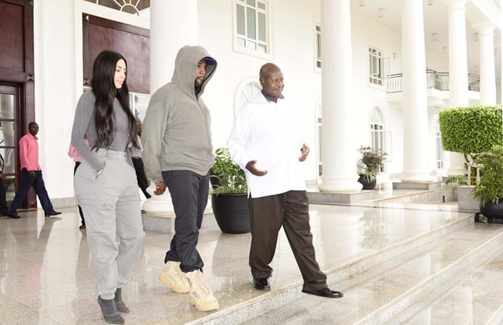 Kim & Kanye Visits Uganda