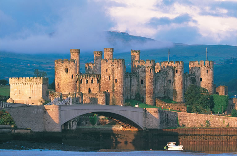 Conwy-Castle Exterior in North Wales